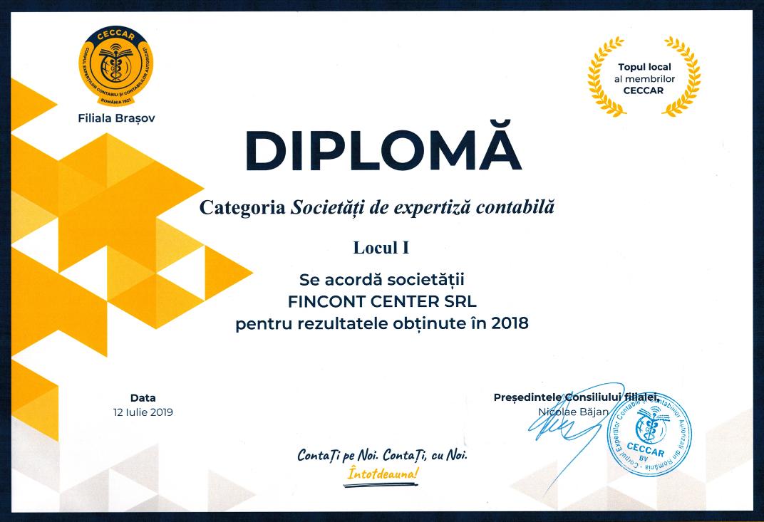 Diploma CECCAR 2019